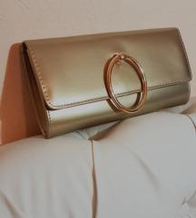 Elegantna zlatna torbica