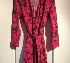 Zara cvjetna roza haljina xs