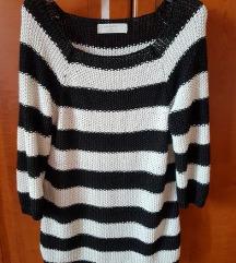 Zara prugasti koncani pulover L