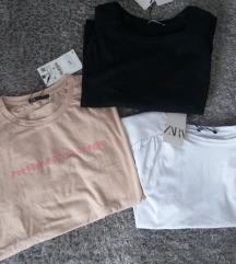 3 majice Zara XL NOVO