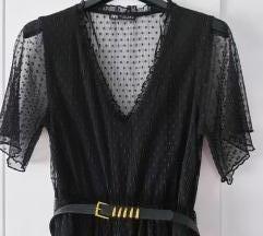%%Zara čipkasta točkasta haljina%%