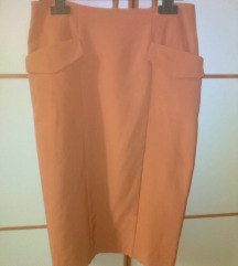 Asos military pencil skirt cinamon