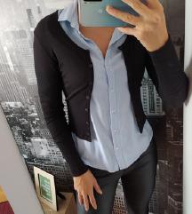 H&M Vesta kardigan kratki crni, S