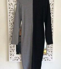 Zara color block midi haljina