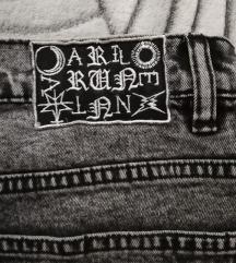 Crne acid wash jeans kratke hlace 🖤2nd hand🖤