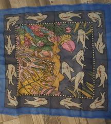 Posebna marama svila oslikano unikat