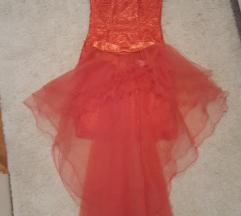 Koraljna haljina dvodjelna