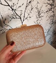 Svečana zlatna clutch torbica