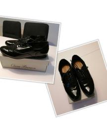 CCC crne lakirane oxford cipele