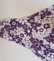 Ljetna pamučna cvijetna romantična haljina