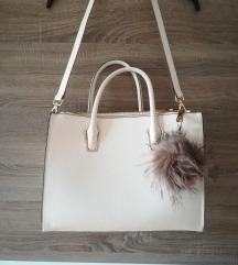 % H&M beige poslovna torba