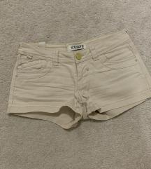 PULL&BEAR kratke krem hlače