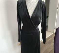 Siva plišana haljina