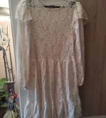 Čipkasta haljina Zara S/M