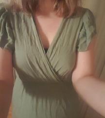 Zelena haljina na volane