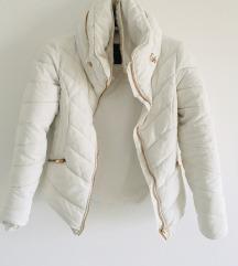 Zara bijela parka s krznom vel S