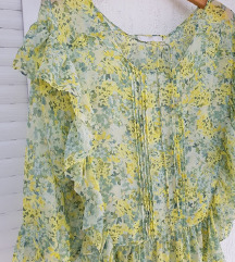 MANGO zelena cvjetna bluza dugih rukava