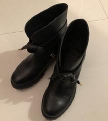 Twin set čizme kožne crne 38