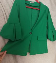 Zeleni sako jakna rastezljiv