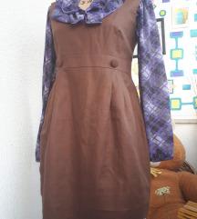 Vintage haljina boje čokolade