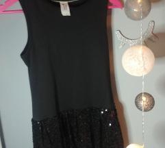 Crna haljina šljokice 158/164