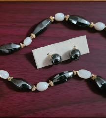Vintige ogrlica hematit i madreperle pearls