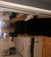 Zara haljina crna sa točkicama 36