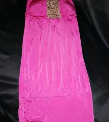 Roza haljina bez rukava
