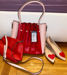 Crveni LOT - dvije torbe + cipele (38)