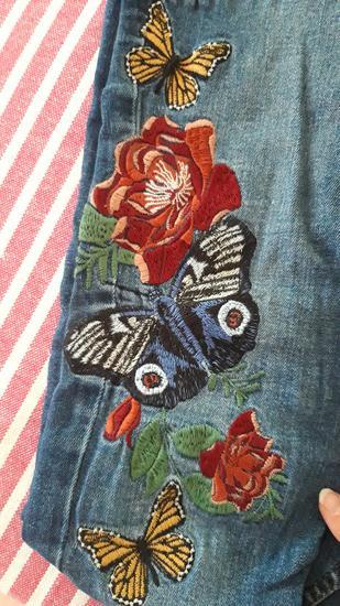 Zara vezene cvijecem traperice