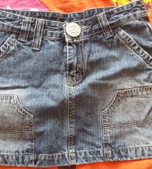 Jeans mini suknja