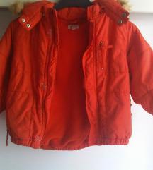 Topla dječja zimska jakna podstavljena 3-4 god.