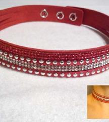 CHOKER ogrlica / narukvica, crvena