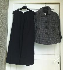 %MANGO LOT- mala haljinica+ retro kaputić 38