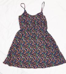 🌞 H&M haljina s lubanjama, ružama i pticama S M