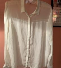 H&M bijela košulja prozirna