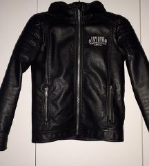 Crna kožna jakna za dječake s PT