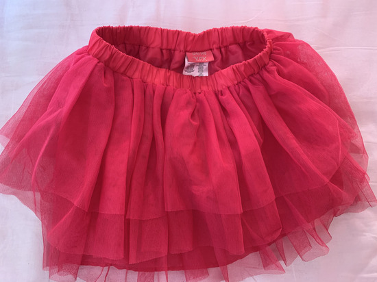 Roza suknja od tila
