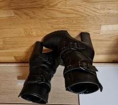 Crne kožne čizmice/gležnjače