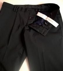 muške crne poslovne hlače