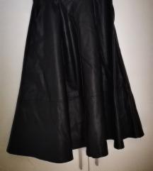 Kožna midi suknja