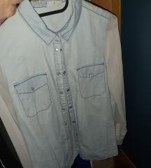 Jeans košulja s prozirnim rukavima