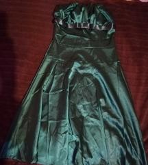 Haljina tamnozelena
