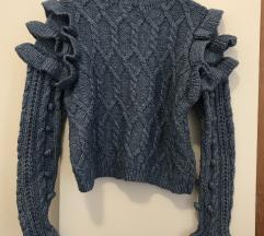 Zara plavi džemper REZ