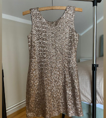Zara zlatna haljina S/M