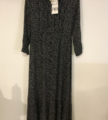 Zara maxi cvjetna haljina od viskoze