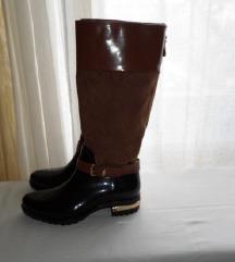 MISS MERY - Milano crno-smeđe čizme br.36 više 37