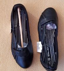 Graceland ženske crne kožne balerinke (nenošeno)