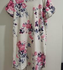 Bijela cvjetna haljina