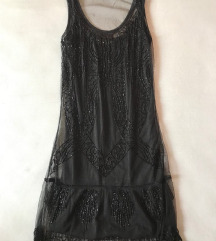 Bershka crna haljina XS